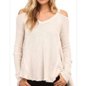 Free People cold shoulder sweater size small